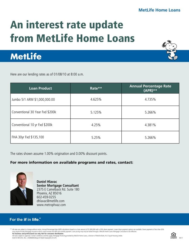 MetLife rate update